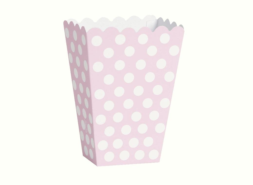 Polka Dot Treat Boxes - Light Pink