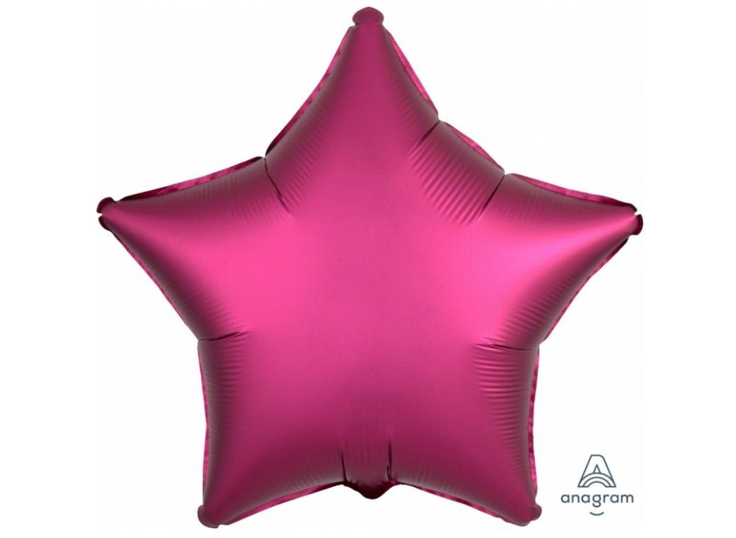 Star Shaped Foil Balloon - Satin Luxe Pomegranate