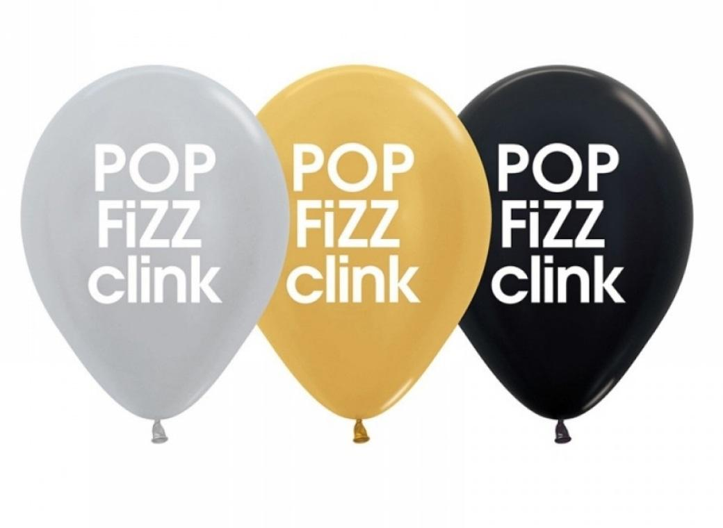 Pop Fizz Clink Balloons 5pk