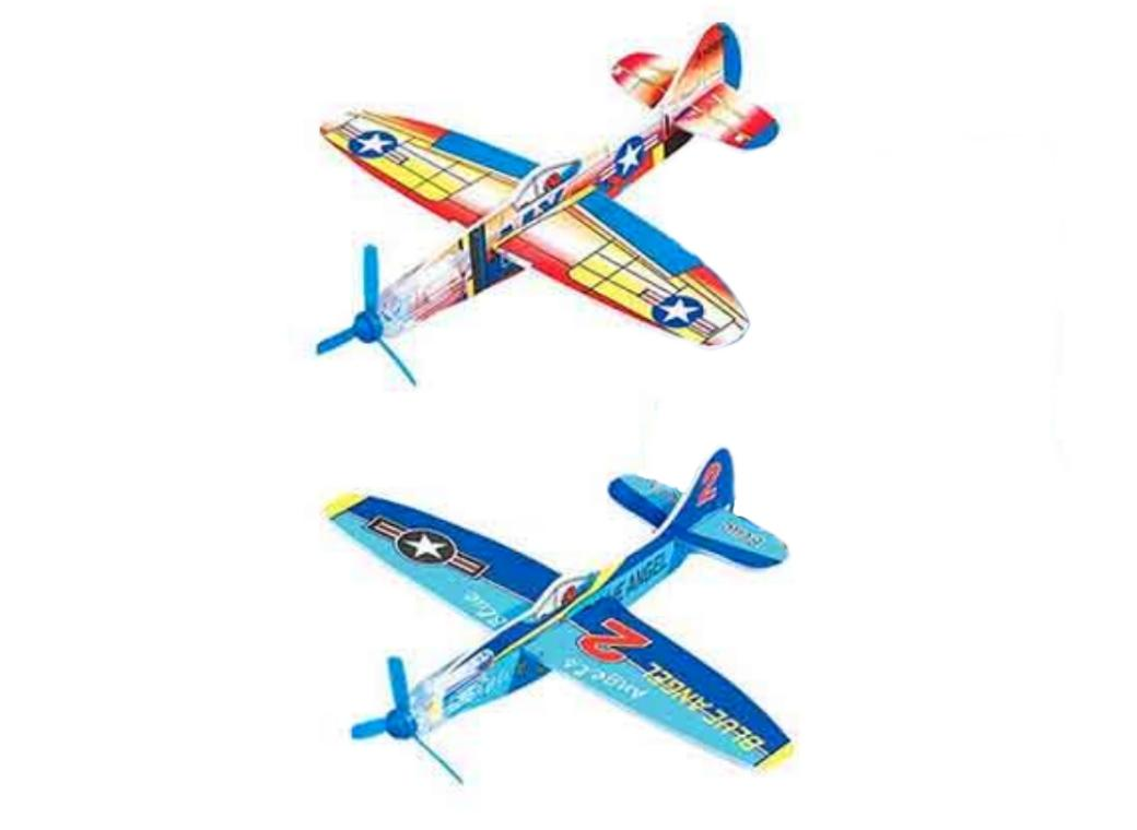 Power Prop Glider Planes 2pk