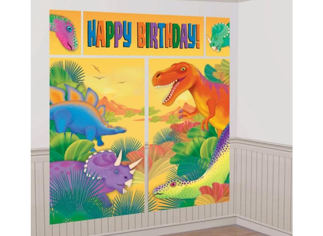 Prehistoric Dinosaurs Wall Decorating Kit