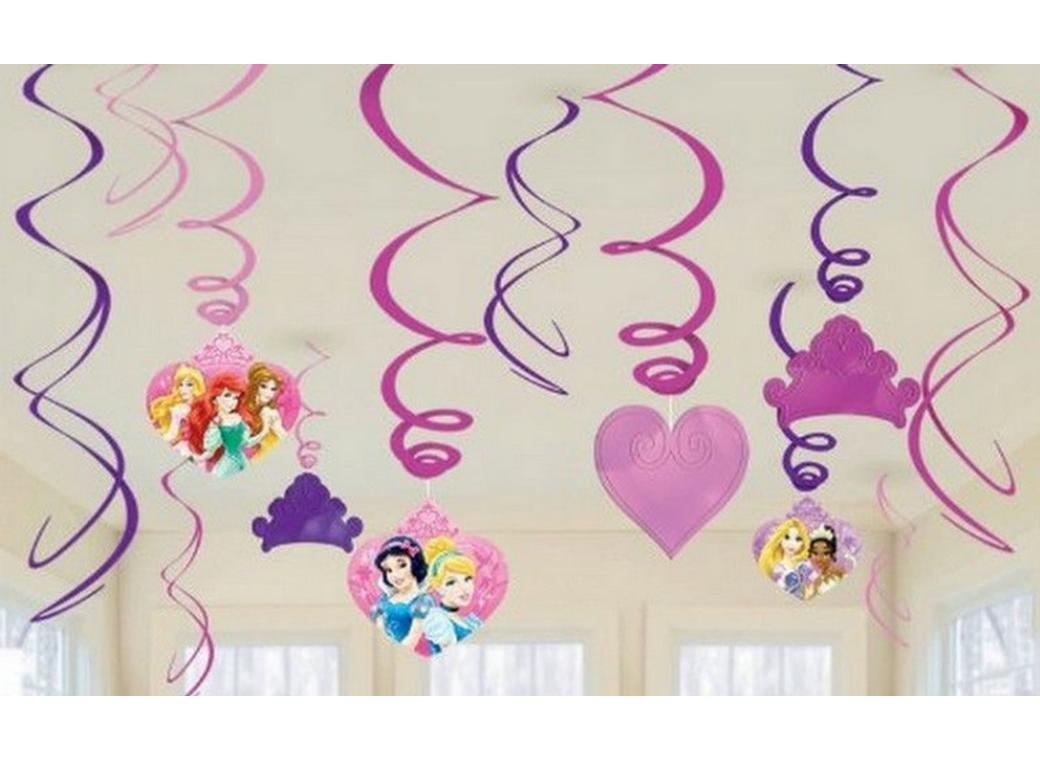 Disney Sparkle Princess Hanging Swirl Decorations