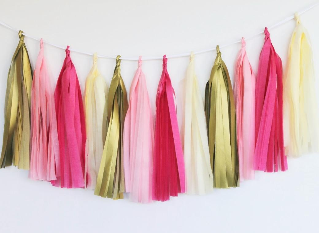 Tissue Tassel Garland - Princess