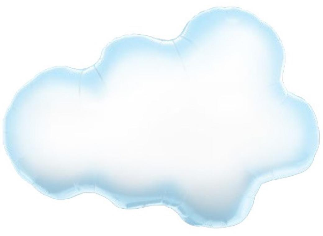 Puffy Cloud SuperShape Foil Balloon