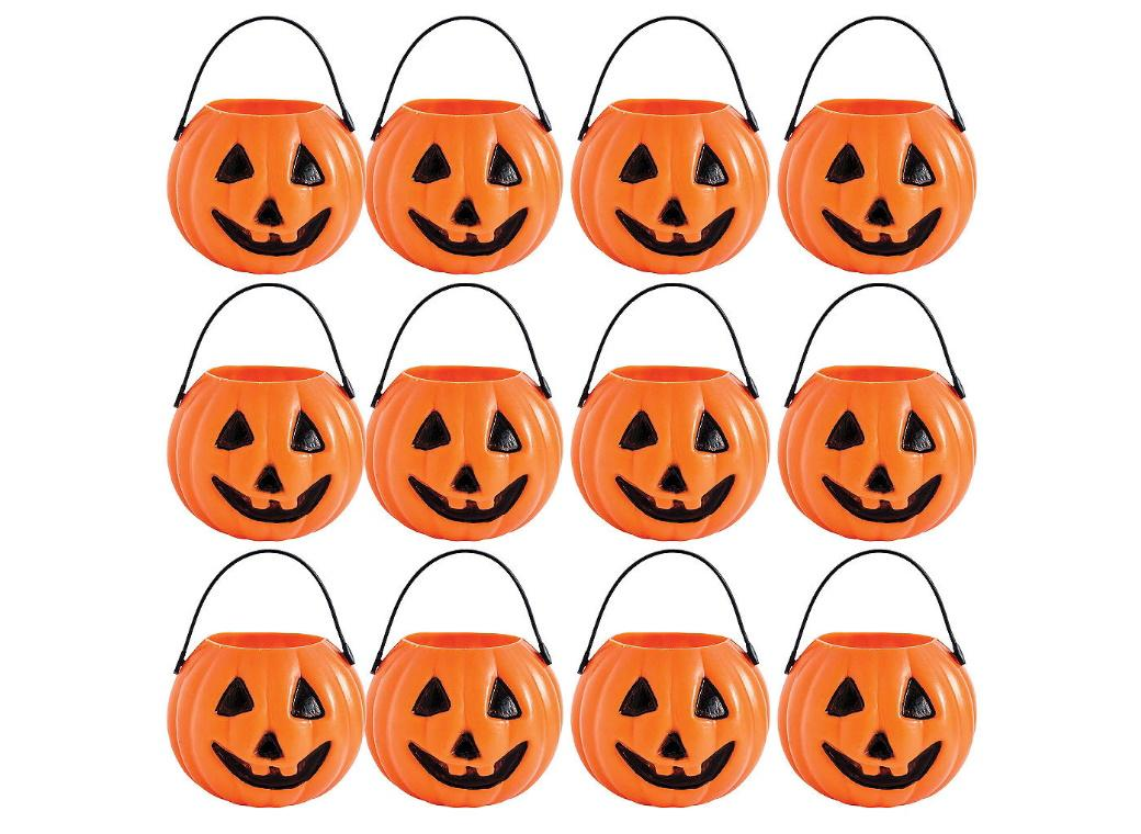 Mini Pumpkin Treat Pails 12pk
