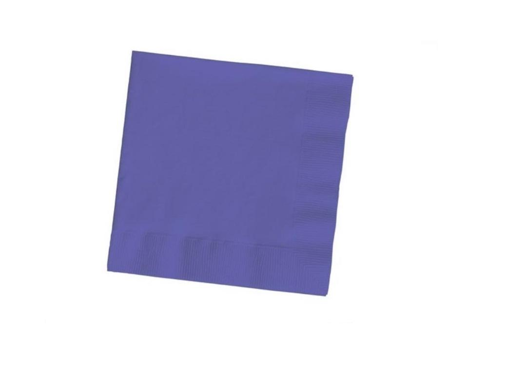 Purple Beverage Napkins 20pk