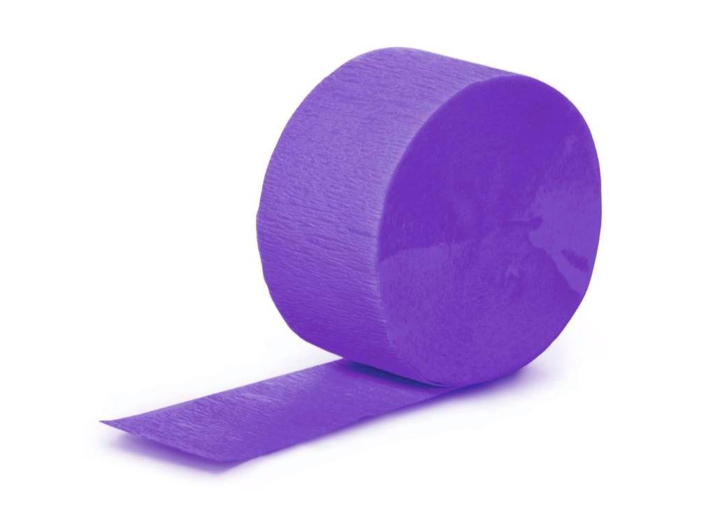 Crepe Paper Streamer - Purple