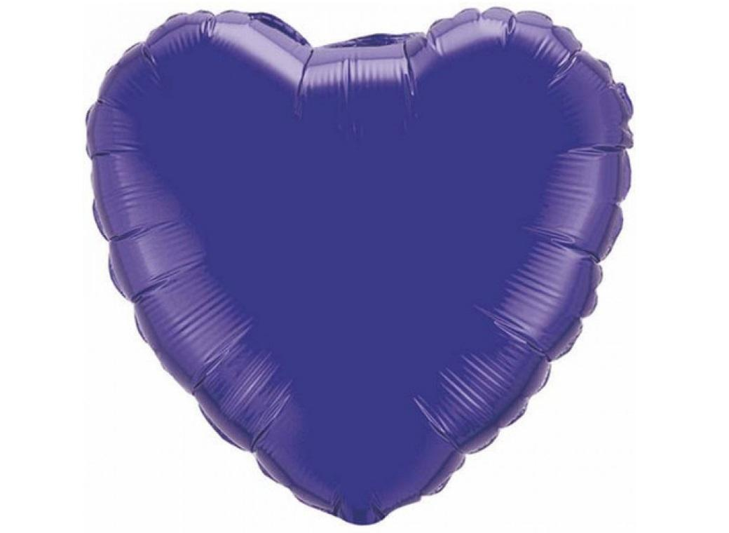 Heart Shaped Foil Balloon - Purple