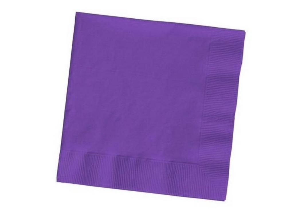 Purple Lunch Napkins - 50pk