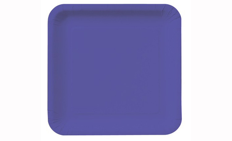 Dinner Plate Square - Purple 12pk