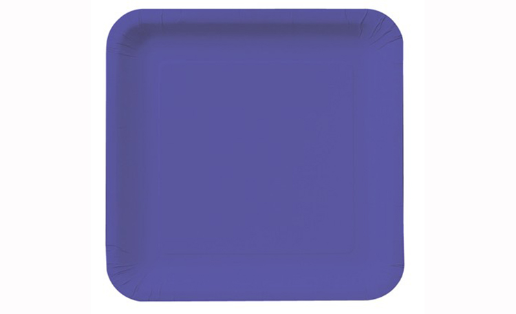 Lunch Plate Square - Purple 12pk
