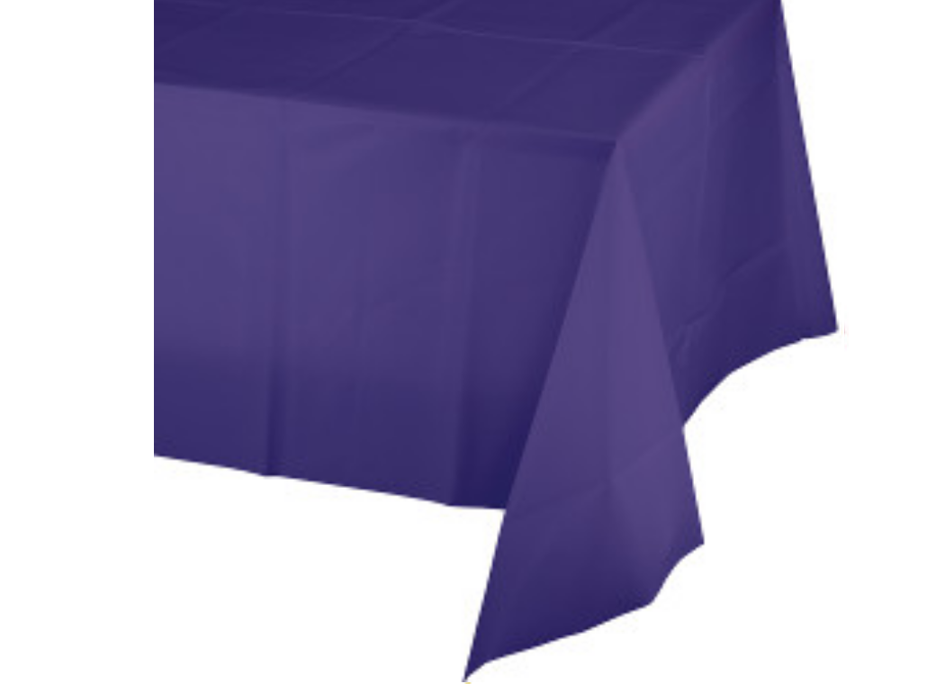 Purple Plastic Table Cloth