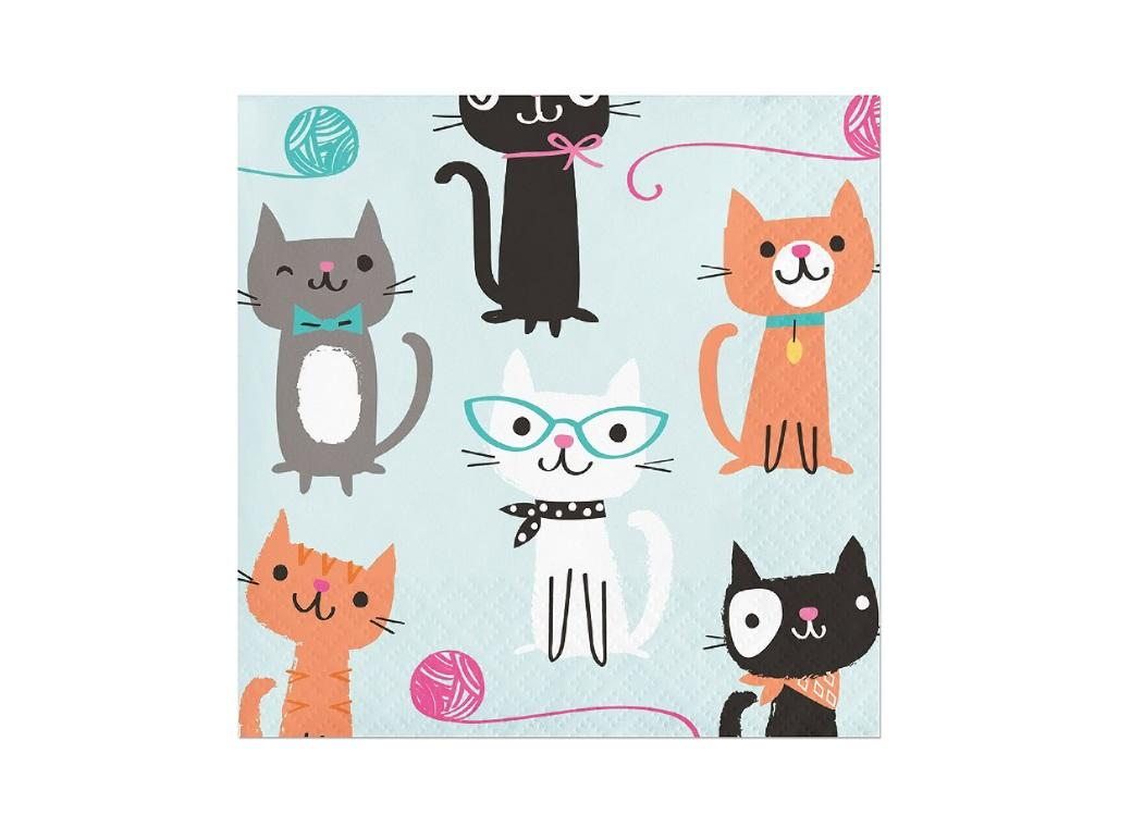Purr-fect Party Beverage Napkins 16pk
