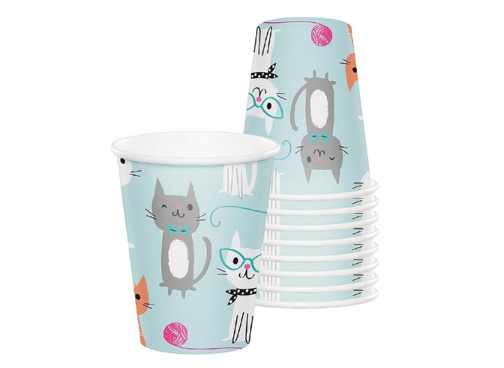 Purr-fect Party Cups 8pk