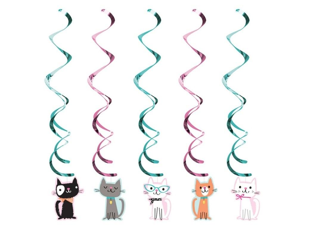 Purr-fect Party Hanging Swirl Decorations