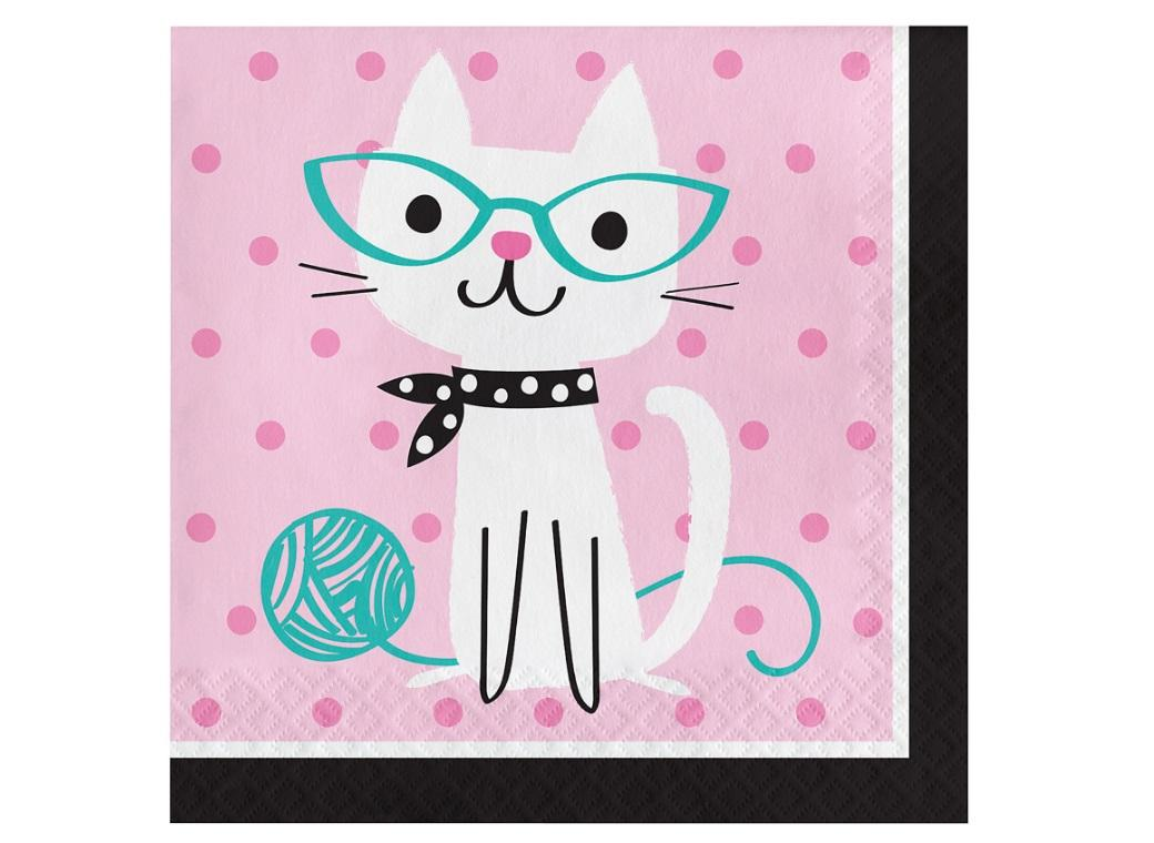 Purr-fect Party Lunch Napkins 16pk