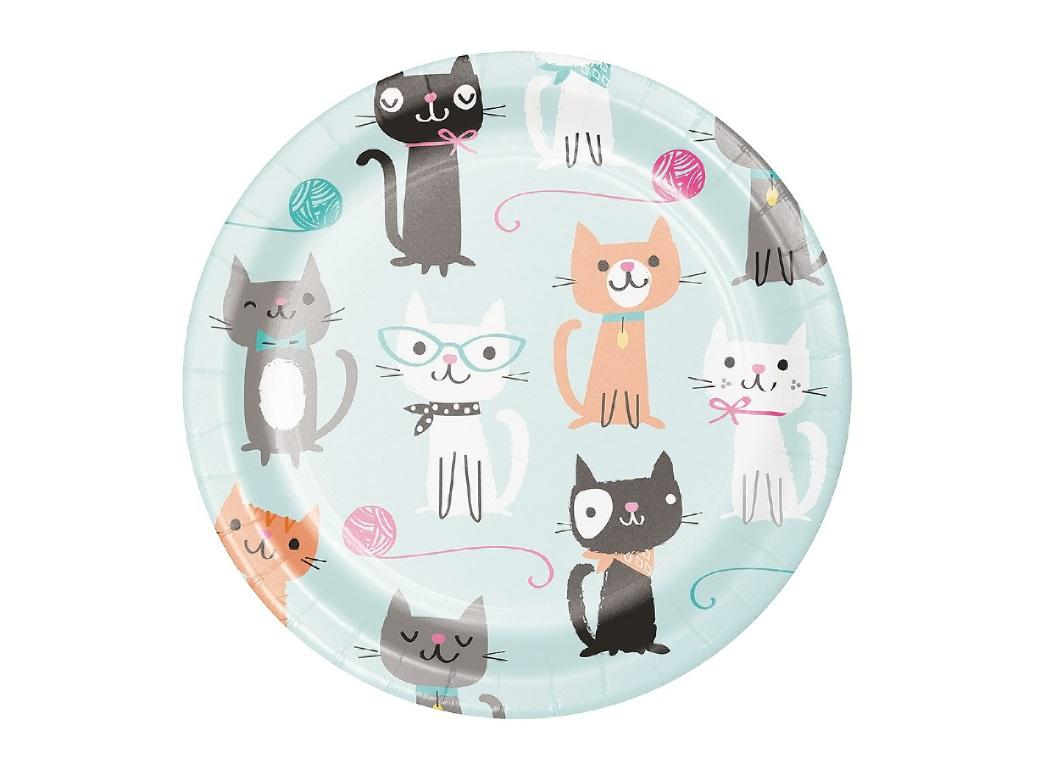Purr-fect Party Lunch Plates 8pk