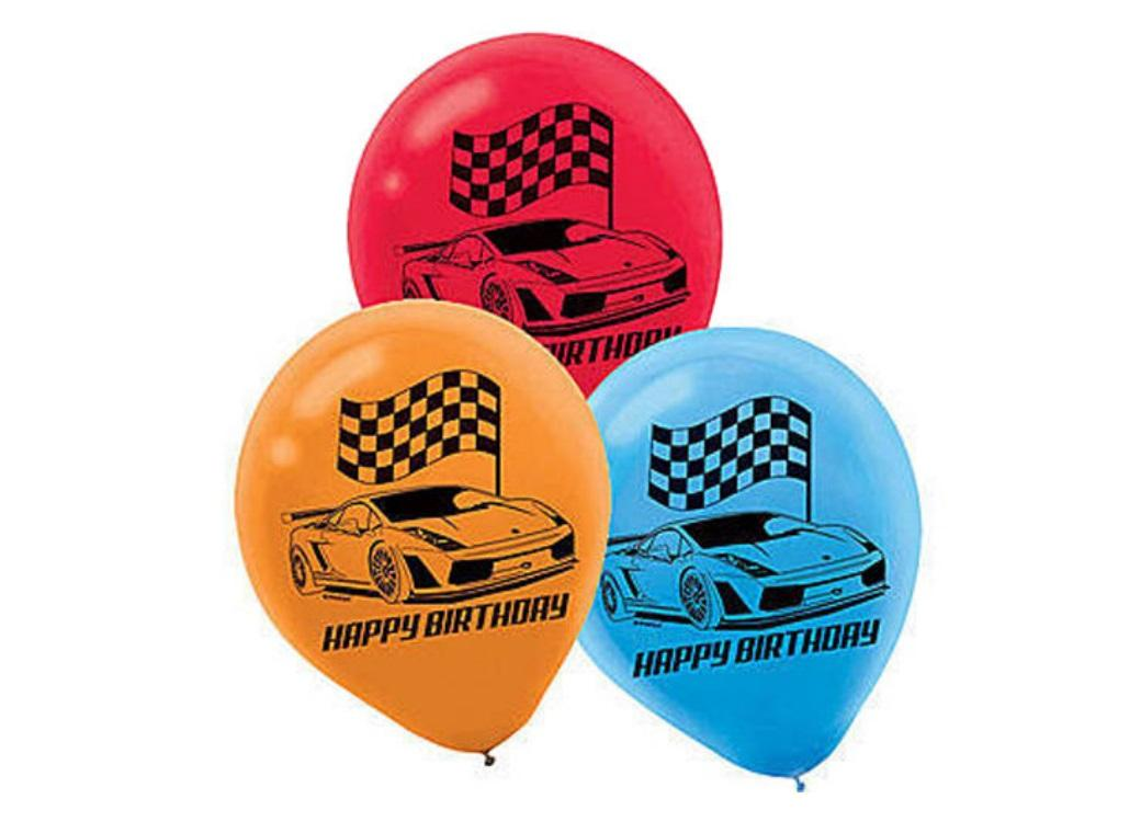 Race Car Balloons - 6pk