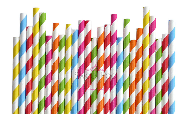 Paper Straws - Rainbow Mix