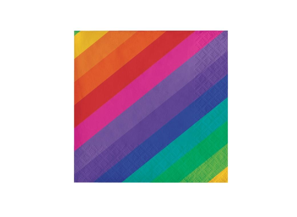 Rainbow Beverage Napkins 16pk