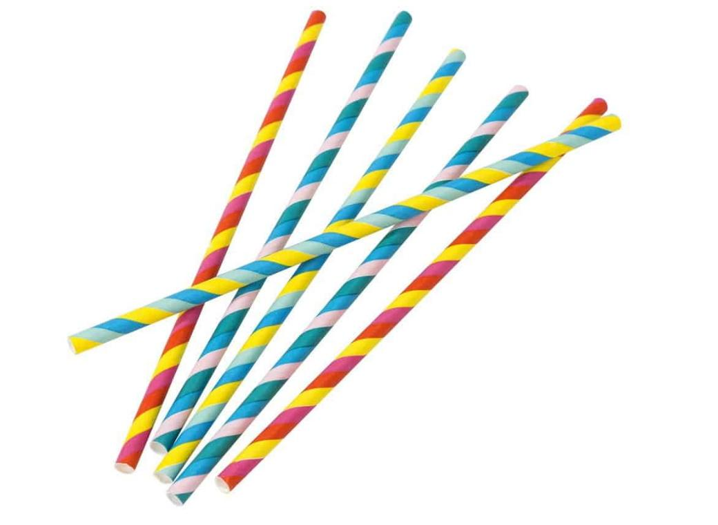 Rainbow Brights Paper Straws