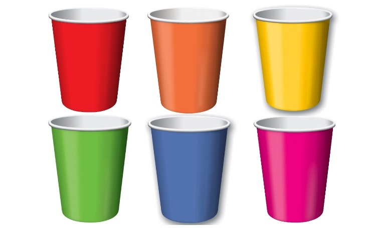 Paper Cups 12pk - Rainbow Mix
