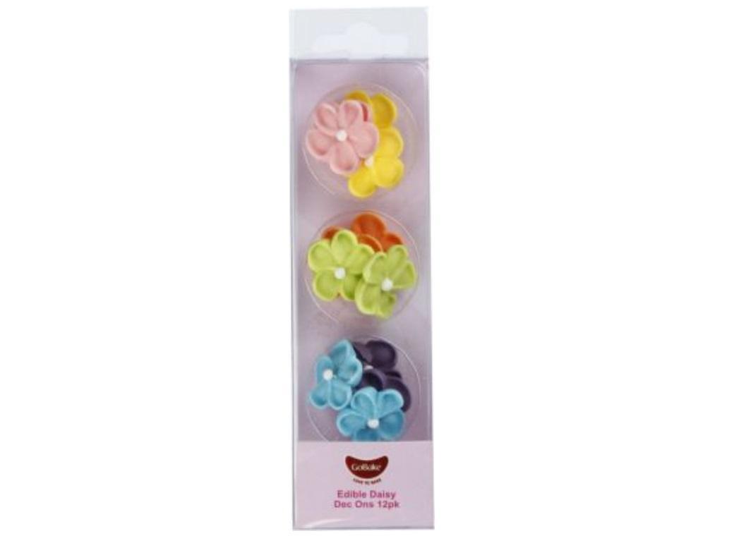 GoBake Dec Ons Rainbow Daisies - 12pk