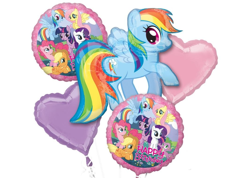 Rainbow Dash Foil Balloon Bouquet