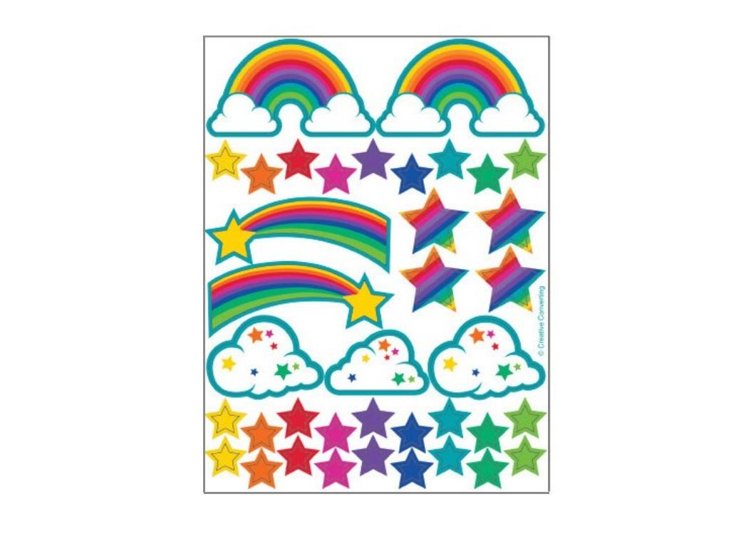 Rainbow Glitter Stickers