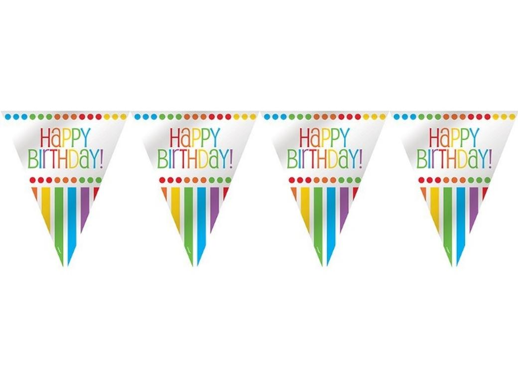 Rainbow Birthday Flag Banner