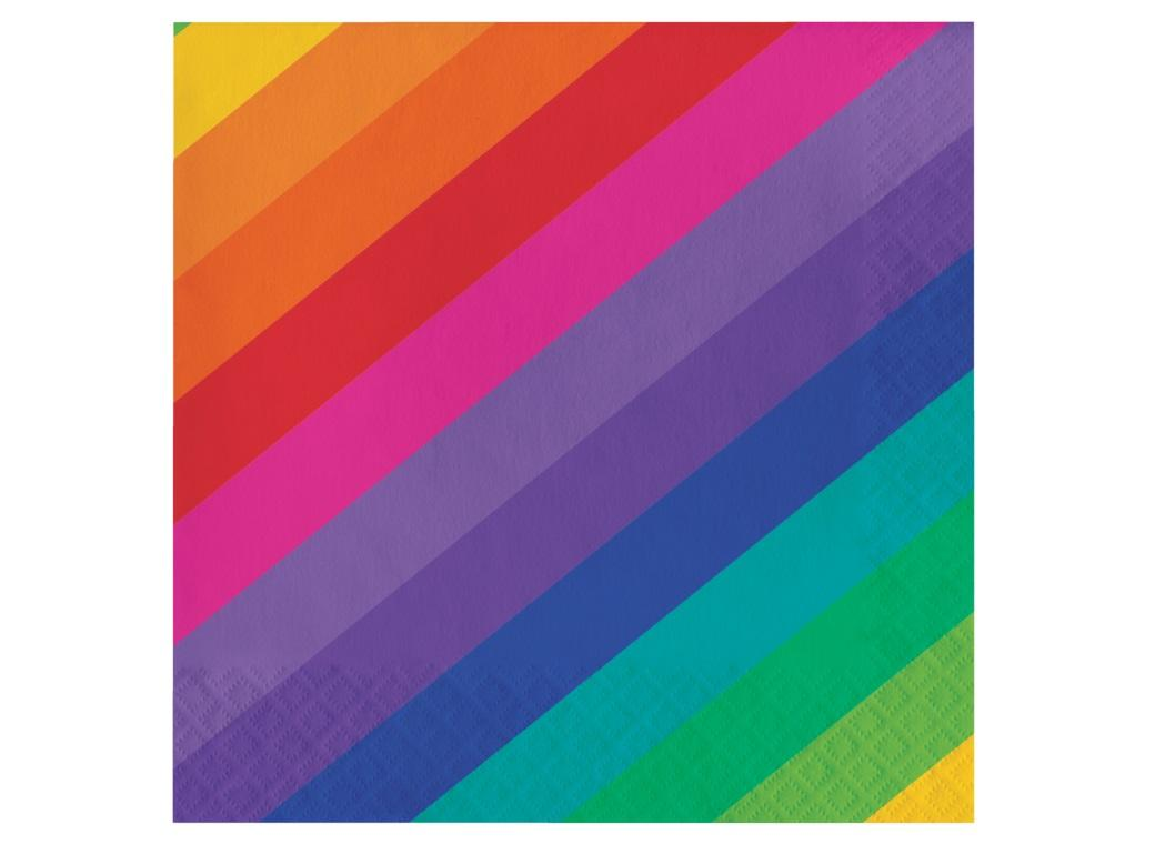 Rainbow Lunch Napkins 16pk