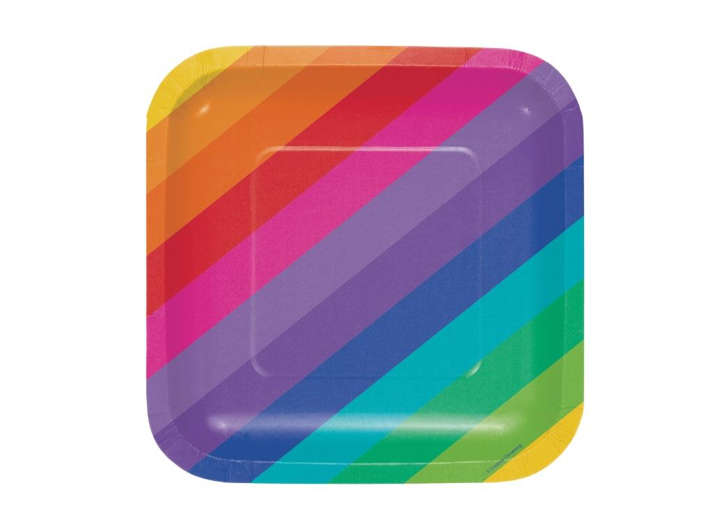 Rainbow Lunch Plates 8pk