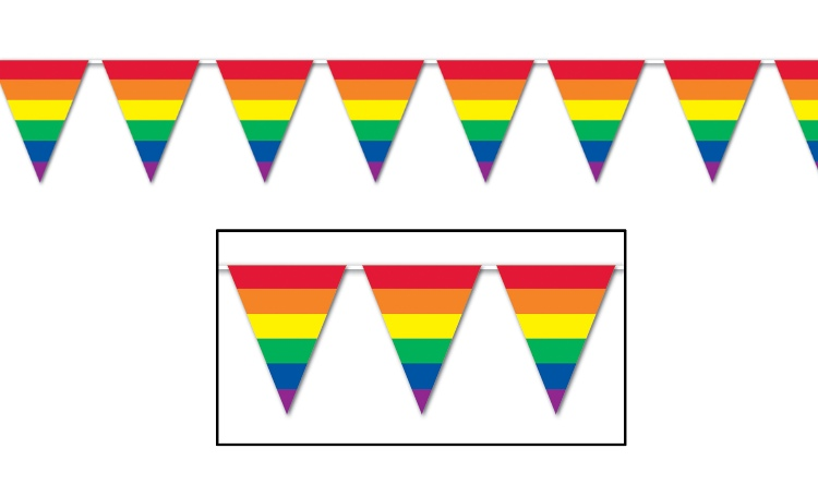 All Weather Bunting Flags - Rainbow Stripes