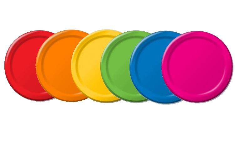 Rainbow Mix Dinner Plates - 12pk