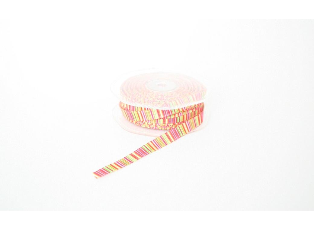 Pastel Stripes Ribbon - Orange Multi