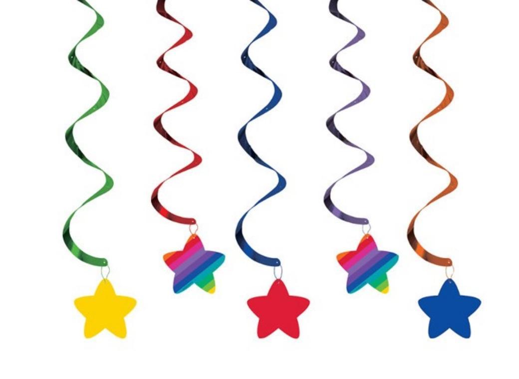 Rainbow Stars Dizzy Danglers