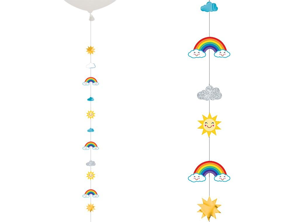 Sun Rainbow Clouds Balloon Tail