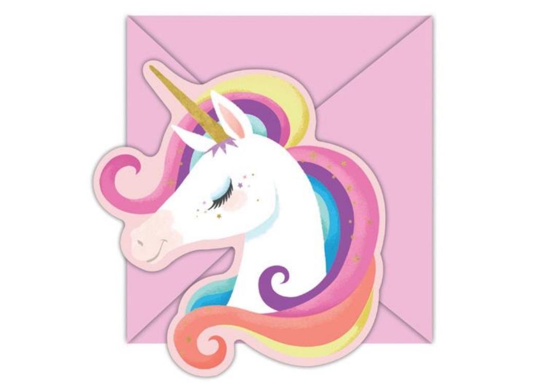 Unicorn Party Invitations 8pk