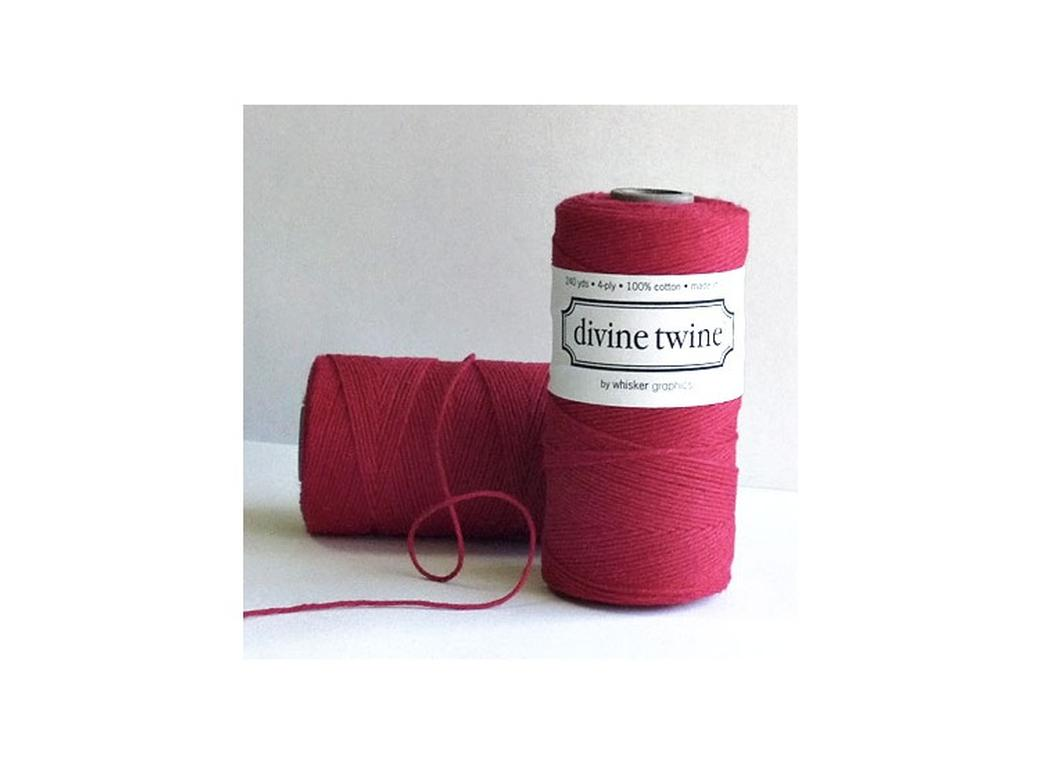 100% Cotton Bakers Twine - Solid Red