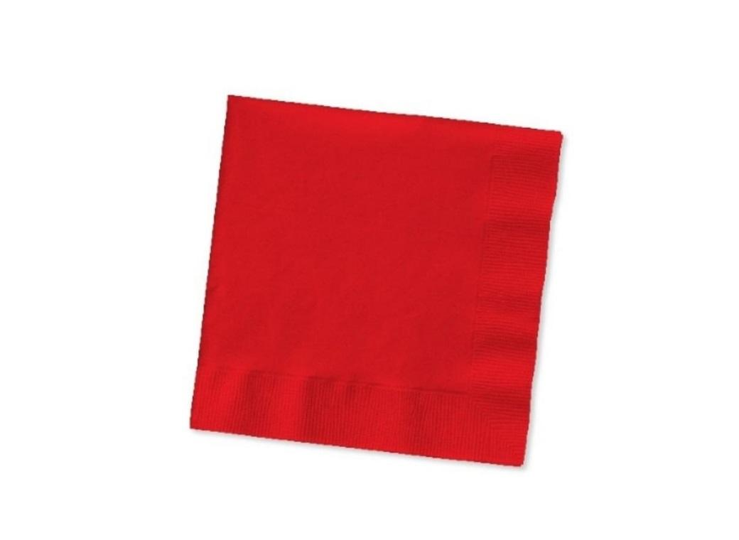 Red Beverage Napkins 20pk