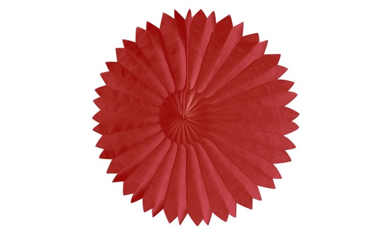 Tissue Fan Red 25cm