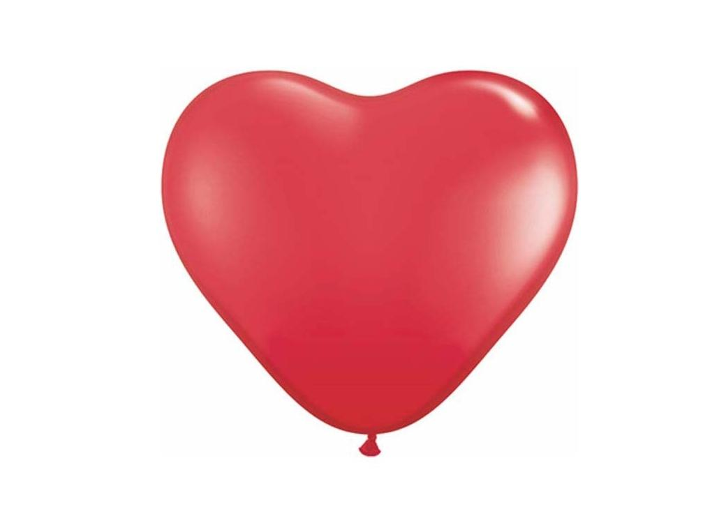Red Heart Balloons - 5pk