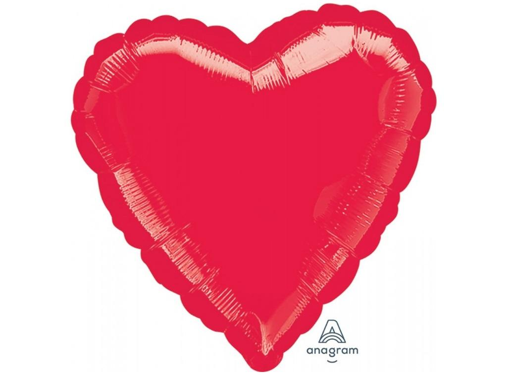 Heart Shaped Foil Balloon - Red
