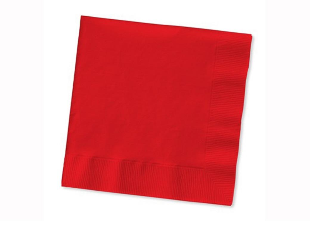 Red Lunch Napkins - 50pk
