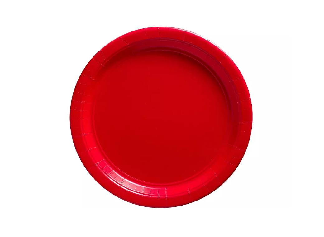 Lunch Plates 20pk - Red
