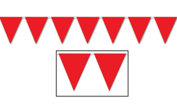 All Weather Bunting Flags - Red