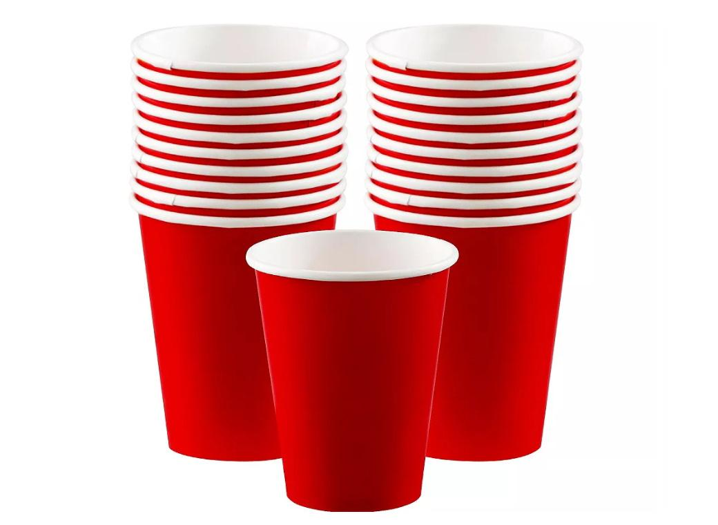 Paper Cups 20pk - Red