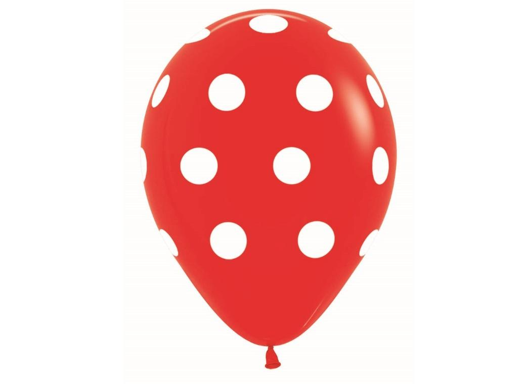 Red Polka Dot Balloons 12pk
