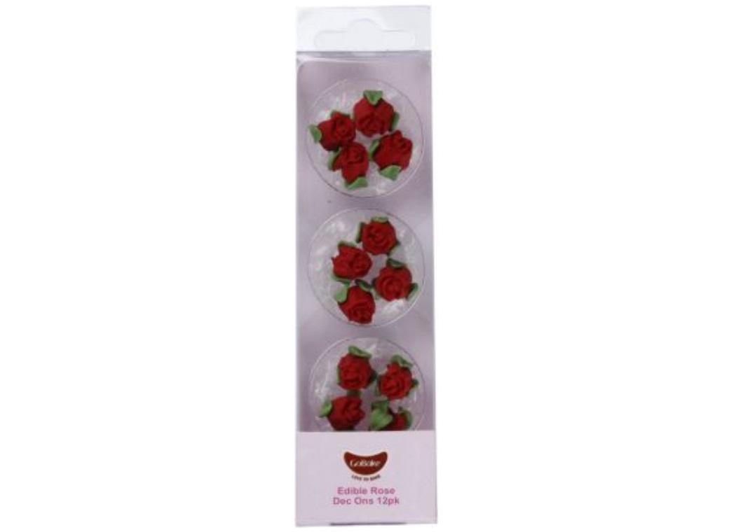GoBake Dec Ons Red Roses - 12pk