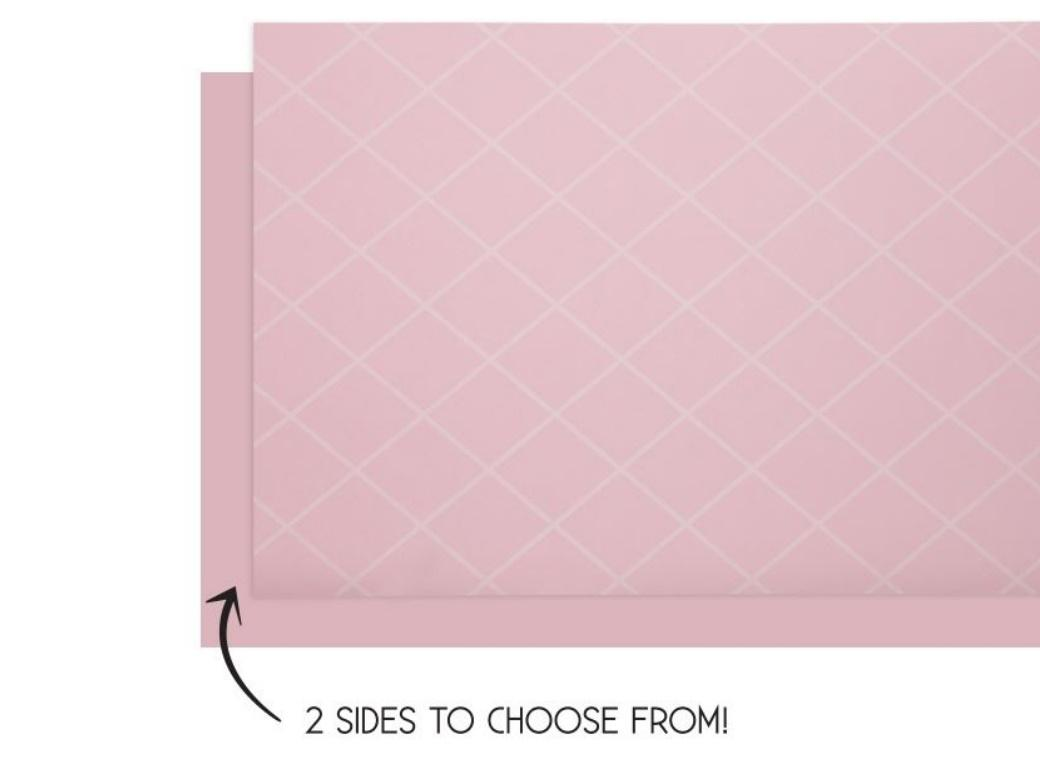 Reversible Table Runner - Classic Pink
